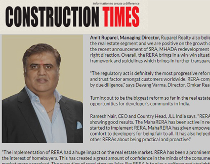 RERA Ensuring formalisation of the Indian real estate industry