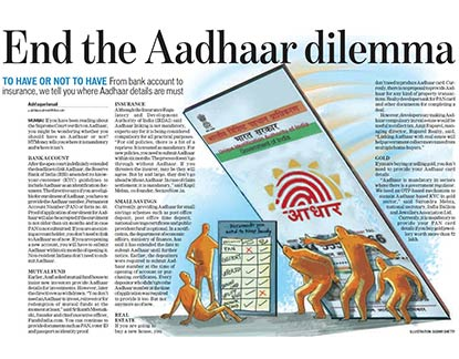 Mr. Amit Ruparel, Managing Director, Ruparel Realty believes that though Aadhaar is currently not mandatory for property transactions - Hindustan Times