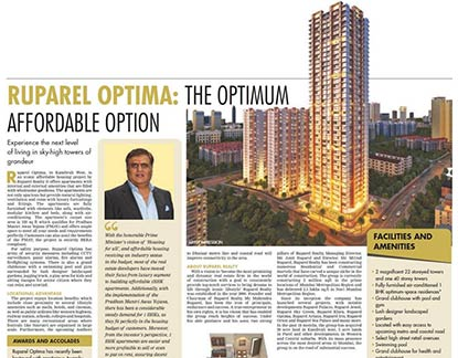 Mr. Amit Ruparel, MD, Ruparel Realty speaks on Iconic affordable housing project which offers 1BHK apartments - Hindustan Times