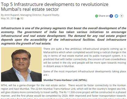 Top 5 Infrastructure developments revolutionize Mumbai's real estate sector