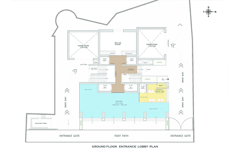 GROUND FLOOR ENTRANCE LOBBY PLAN