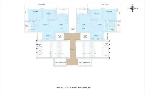 TYPICAL 31st & 32nd FLOOR PLAN