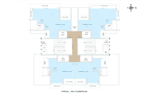 TYPICAL 16th FLOOR PLAN