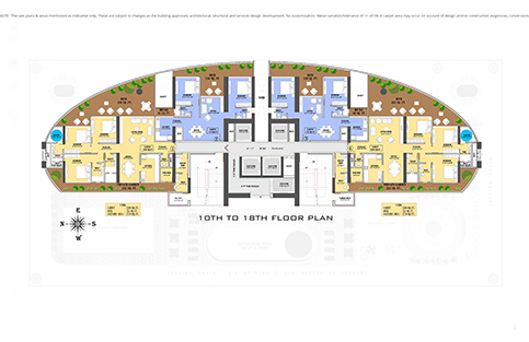 10TH TO 18TH FLOOR PLAN
