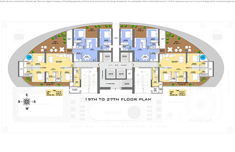 19TH TO 27TH FLOOR PLAN